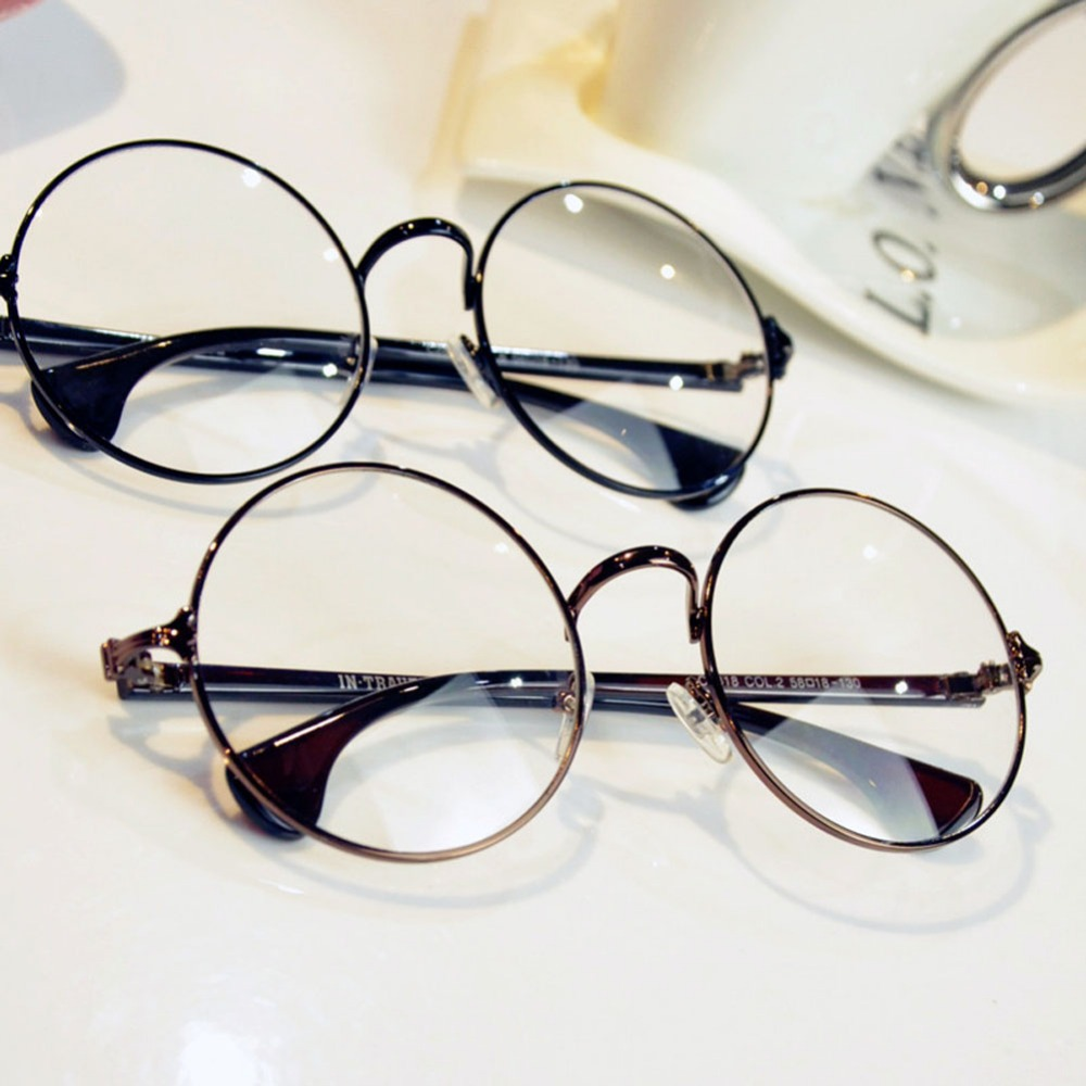 2015 Women retro eyeglass frame round female models big box myopia ...