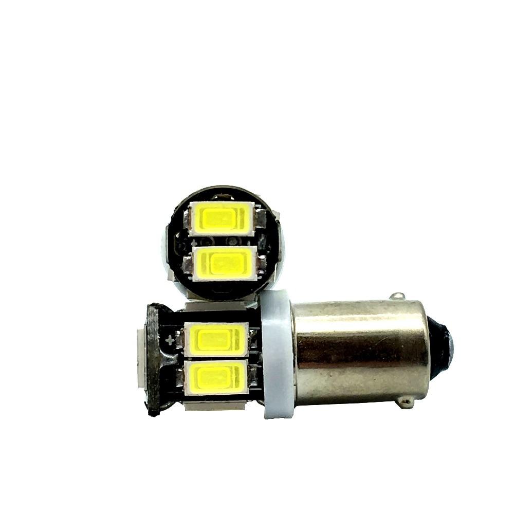 50X BA9S 5630 10LED 10 SMD LED Light Bulb Clearance Headlight Lights 12V DC White Car Lights Lamp Bulbs 1895 57 T4W 182 1445 in Car Headlight Bulbs LED from Automobiles Motorcycles
