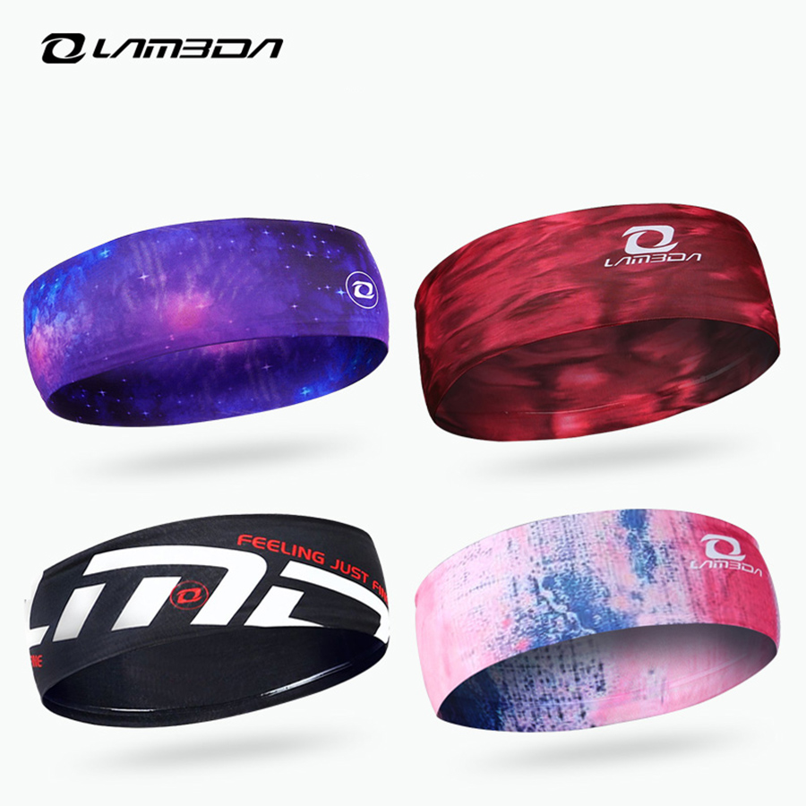LAMBDA outdoor sports headbands bandana Gym Running Tennis Football basketball Head Swea ...
