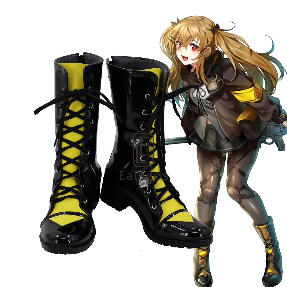 Game Girls Frontline UMP9 Cosplay Shoes Halloween Carnival Boots Custom made