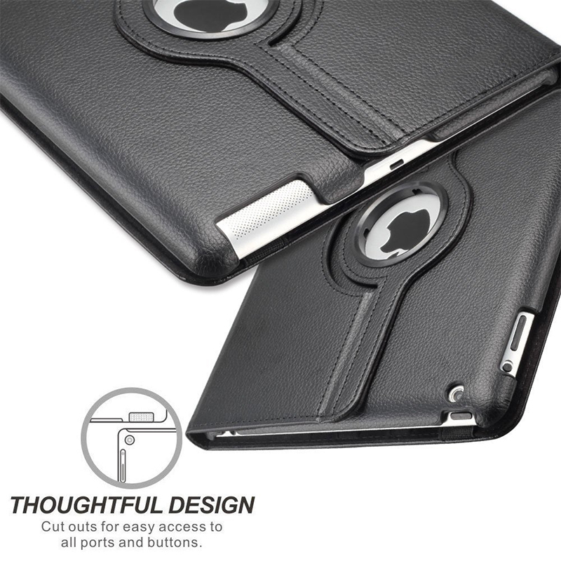 360 Degrees Rotating PU Leather Flip Cover Case For iPad Mini 1 2 3 Stand Holder Cases Smart Tablet Case A1432 A1454 A1600 A1490 in Tablets e Books Case from Computer Office