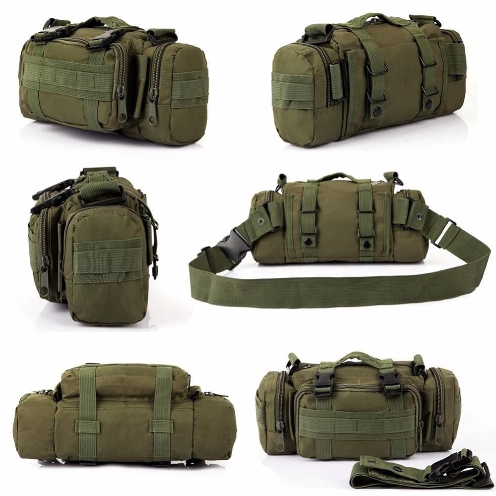 купить THINKTHENDO Waist Packs Military Waist Pack Shoulder Bag Molle Pouch Bag по цене 838.57 рублей