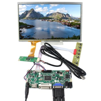 """HDMI DVI VGA Audio LCD Controller Board 10.1"""" 1366x768 LCD Screen With Capacitive Touch Panel"""