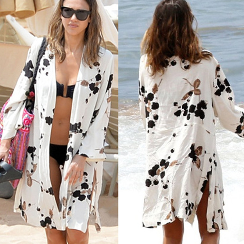 Beach Bikinis Cover Up Cotton Cardigan Skirt Loose Large Size Sun Protection Swimsuit Cover Up Blouse Bathing Tunic Pareo 2019
