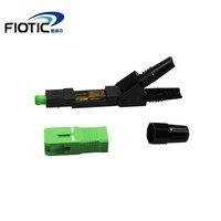 100PCS/box FTTH SC/APC singlemode fiber optical SC/APC quick connector high quality Fiber Optic Fast Connector Free shipping