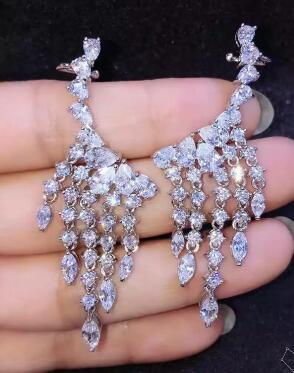 Bijoux de mariée livraison gratuite sellhot chaude vente 925 belle Ours Bijoux en cristal boucles d'oreilles