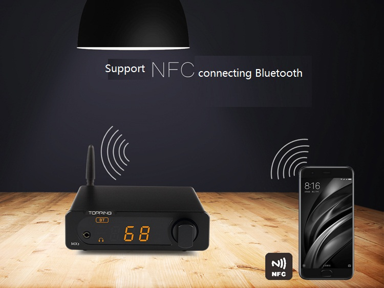 Topping MX3 Multifunction Desktop Digital Amplifier 40W+40W DAC HiFi Bluetooth Headphone NFC