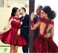 2015 Latest Style Fashionable Cocktail dresses Sexy Red Short dresses Party dress vestido de noiva