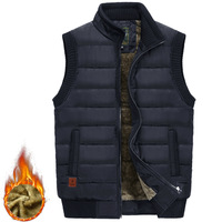 2019 Winter Casual Vest Men Thicken Warm Sleeveless Jacket Autumn Cotton Padded Vest Men Fleece Coats Waistcoat Colete Masculino