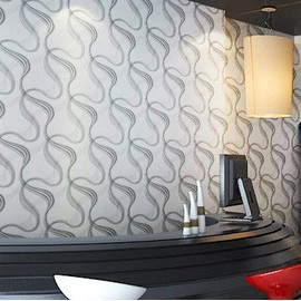 Schon Modern Simple Style PVC Abstract Curve Exfoliator Wallpaper/tapete Roll For  Living Room TV/