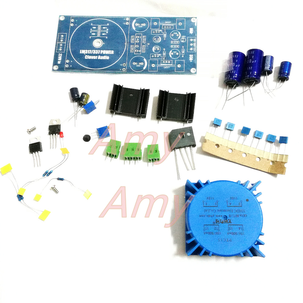 LM317/LM337 Transformer Output Adjustable  Regulator Circuit Package Can Be Installed Talema Sealed Ring Cattle  Kit