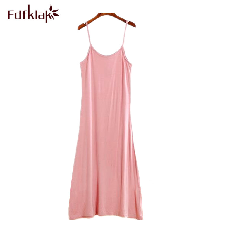 b1c6810f67 Fdfklak Summer night dress women sexy spaghetti strap nightgown female  nightwear dress sleepwear nightgowns ladies nightshirt
