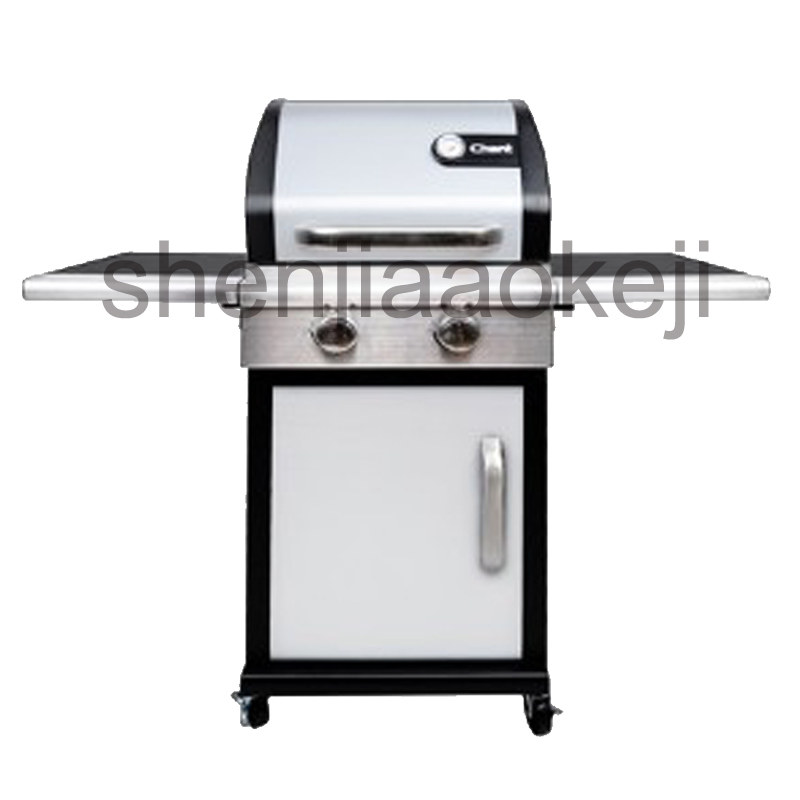 Outdoor gas barbecue grill gas BBQ grill, gas oven garden villa vertical bbq gas stove machine home&commercial bbq thickening infrared oven charcoal bbq grill gas oven large family villas garden villa gas grill 1pc