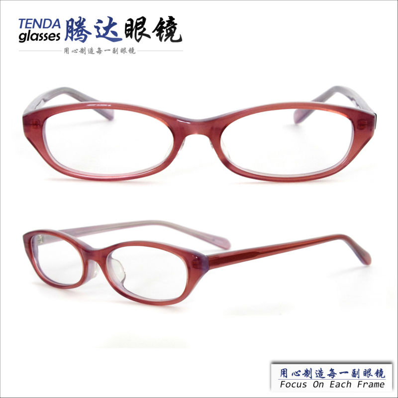 Acetate Plastic Full Frame Oval Prescription Spectacles