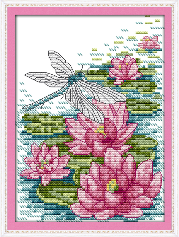 Home & Garden Letter Flower Cross Stitch Patterns Canvas Cross Stitch On Needlework Diy Hand Chinese Embroidery Kits 14ct Counted Cartoon Arts Easy To Use Cross-stitch