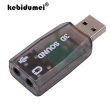 Kebidumei Venda Quente USB Sound Card Adapter Mic Speaker Áudio USB 5.1 Externo Interface De Áudio Para PC Portátil Micro Dados(China)