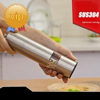 High Quality Stainless Steel Manual Salt Pepper Mill Grinder Portable Kitchen Mill Muller ss844