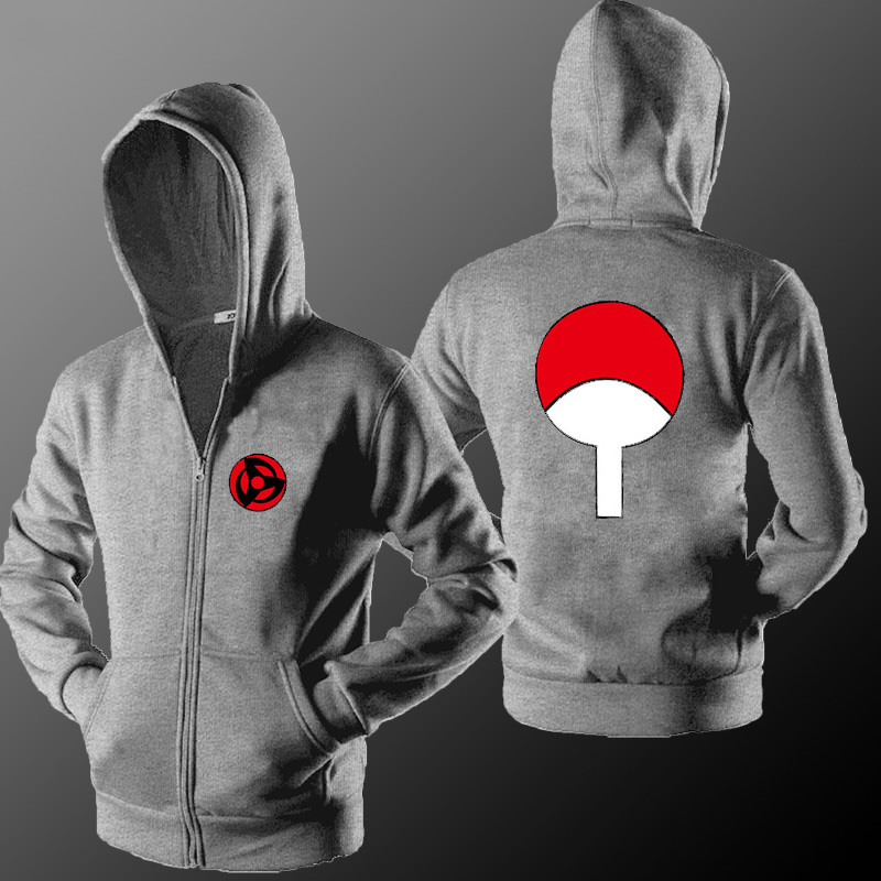 MIDUO 2018 Naruto Hoodies Sweatshirts Uchiha Syaringan Fleece Hooded Boys Fashion Hokage Ninjia Men Women Classic Cartoon Printe