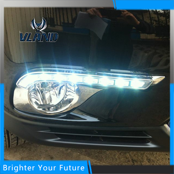 Daylight For Toyota Highlander 2012-2014 White Daytime Running Lights DRL Front Fog Lamp