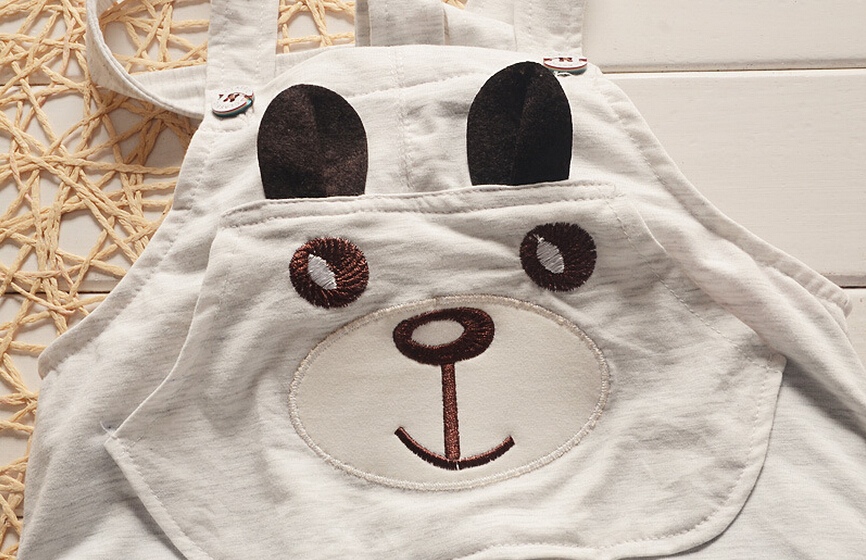 2016 Estilo Moda Verão Roupas Childern Meninos Conjuntos de Roupas de Bebê Panda Bonito Dos Desenhos Animados Conjuntos de Roupas Crianças Meninos Jardineiras Conjuntos de Verão - 5