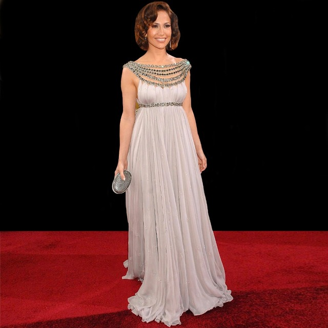Amazing Stunning Empire Waist Maternity Jennifer Lopez Celebrity ...