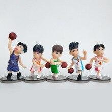 5pcs/lot Slam Dunk Shohoku Basketball Player Anime Figure Doll Hanamichi Sakuragi Rukawa Kaede Model Toy For Kids