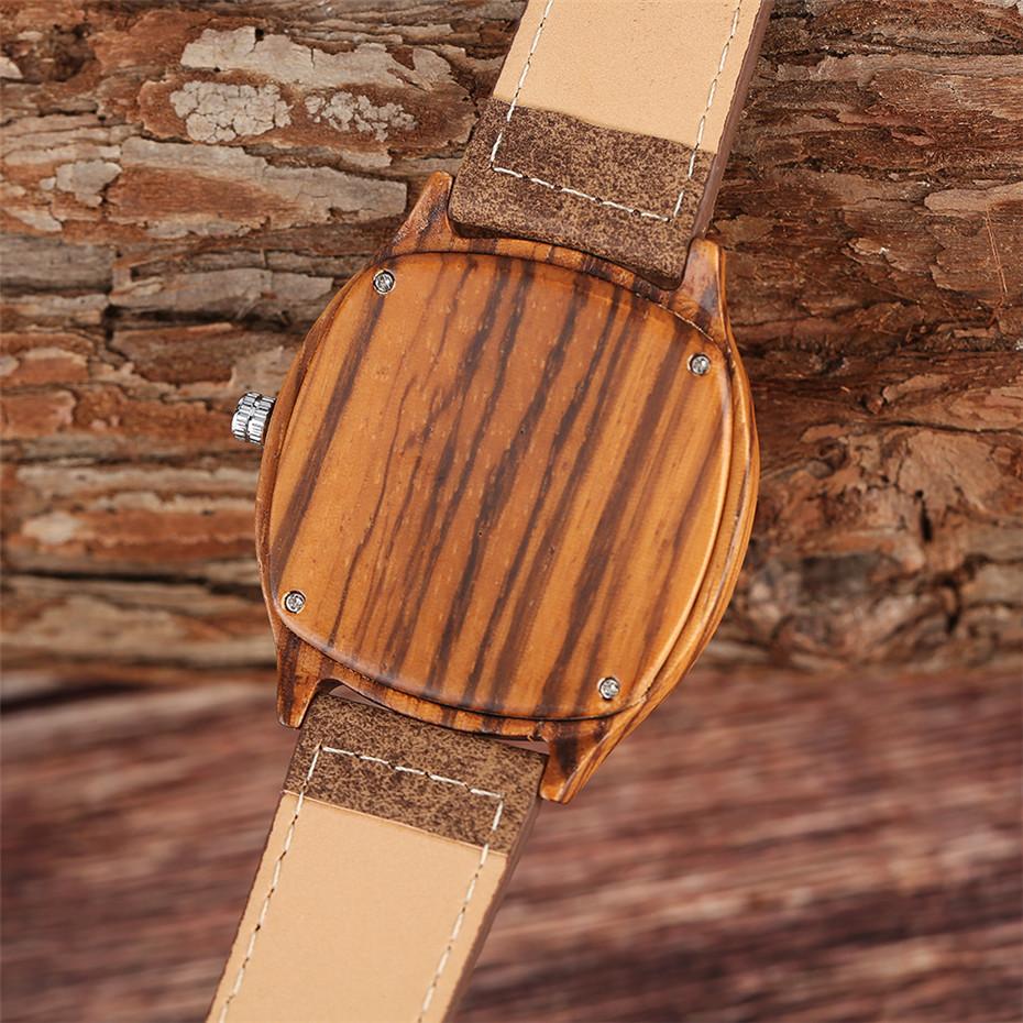 YISUYA Bamboo Wooden Watch Men Quartz Leather Band Analog Creative Watches Roman Numerals Dial Unqiue Shape Fashion Clock Gift (36)