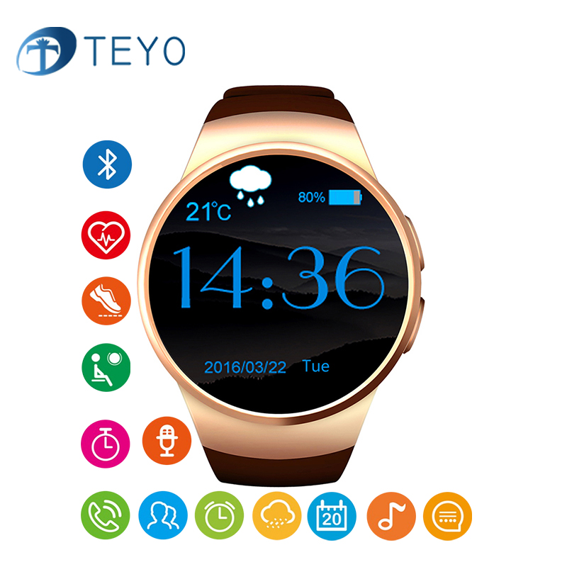 6207e53aa5e Teyo Smart Watch KW18 Heart Rate Monitor Pedometer Camera Remote Message  Notification Calendar With SIM TF Card for Android IOS