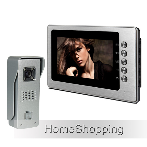 купить FREE SHIPPING Brand New Wired 7 inch Color Video Door phone Intercom System 1 Waterproof Doorbell Camera + 1 Monitor Wholesale дешево