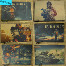 Battlefield Modern Warfare Shooting game Home Furnishing decoration Kraft Game Poster Drawing core Wall stickers