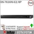 Original Versión de Ultramar DS-7616NI-E2/8 P Red NVR 16CH 8 Interfaz 2 SATA para HDD HD POE CCTV Sistema soporte de Actualización