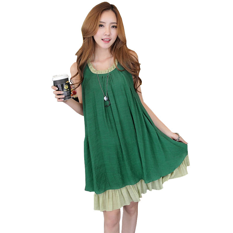 Summer Linen Clothing Maternity Dresses Pregnancy Dress ...