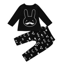 2017 Autumn Girls Boy Clothing Set Long Sleeve Bunny Sports Suit For Baby  Sets Cotton  Clothes New Costume 17Nov24