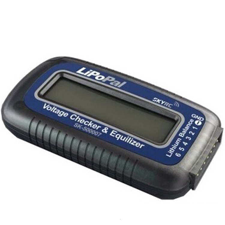 Geniune Skyrc LiPoPal 2-6 s Lipo Battery Voltage Checker Equilizer Indicador de Tensão Auto Balanceador de Tensão