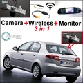 3 in1 WiFi Especial Cámara de Visión Trasera + Receptor Inalámbrico + Sistema de Aparcamiento Monitor del espejo Para Daewoo Lacetti Premiere Matiz Nubira