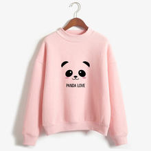 New 2017 Hoody Spring Autumn Long Sleeve Kawaii Panda Printed Harajuku Sweatshirt Women Hoodies Moletom Feminino(China)
