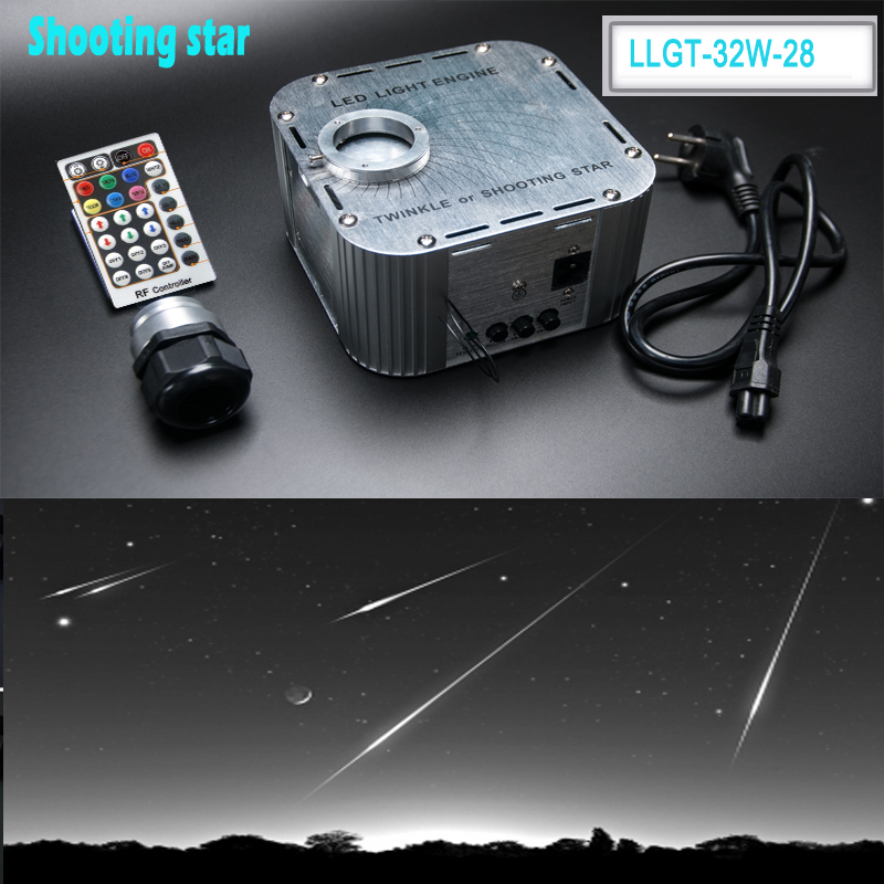 цена на Factory 32 twinkle Watt Optical Fiber LED Light Engine For Shooting Star Meteor Lighting RGBW