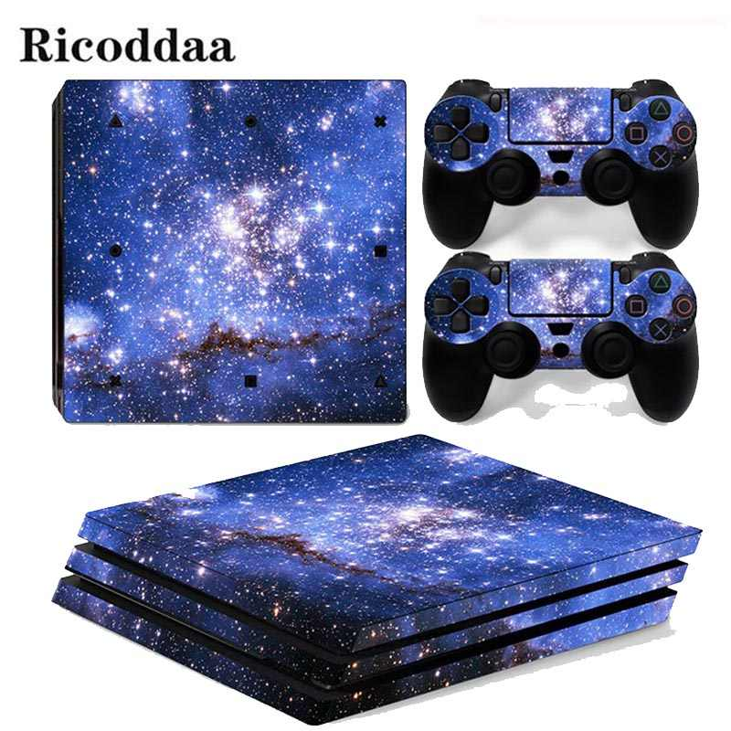 Sky Stars For PS4 Pro Sticker Cover Wrap Console & 2PCS Controller Skin Decal For Sony Playstation 4 Pro Game Accessories