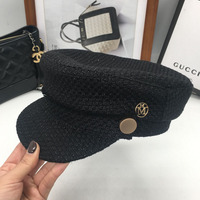 Fashion small sweet mother daughter hat flat knitting hat M word newsboy cap short eaves cap in the streets sailor cap