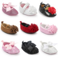 Charming Rose Pointed Shoes Baby Girl First Walkers Baby Shoes Indoor Booties Newborn Photo Props Baby Accessories