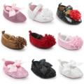 Encantador Subiu Apontou Sapatos Bebé Primeiros Caminhantes Sapatos de Bebê Interior Sapatinho Newborn Foto Do Bebê Adereços Acessórios