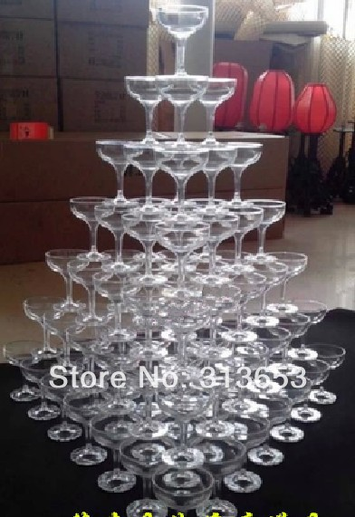 New Arrival Triangle Cup Tower Wedding Props Wedding Decoration