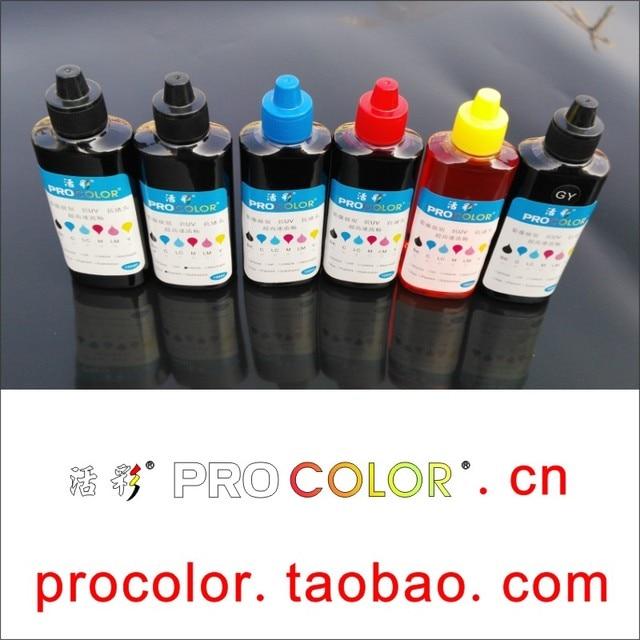 WELCOLOR 550 PGI550 Pigment encre CLI-551 BK C M Y GY colorant encre kit de recharge pour Canon PIXMA MG6350 MG7150 Ip8750 CISS imprimante à jet dencre