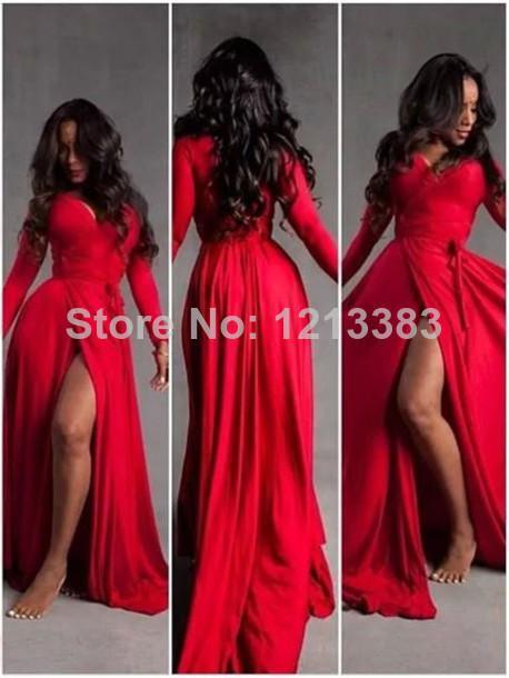 robe de soiree new hot vestido de festa longo long sweetheart open leg sexy Formal gown