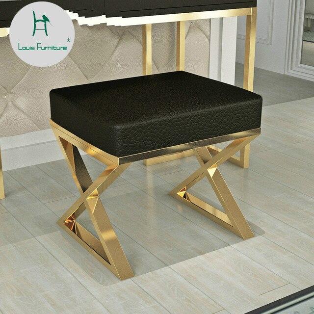 Louis модные скамеечки пуфы Nordic спальня современный минималистский Гардеробная Девушка мягкий стул