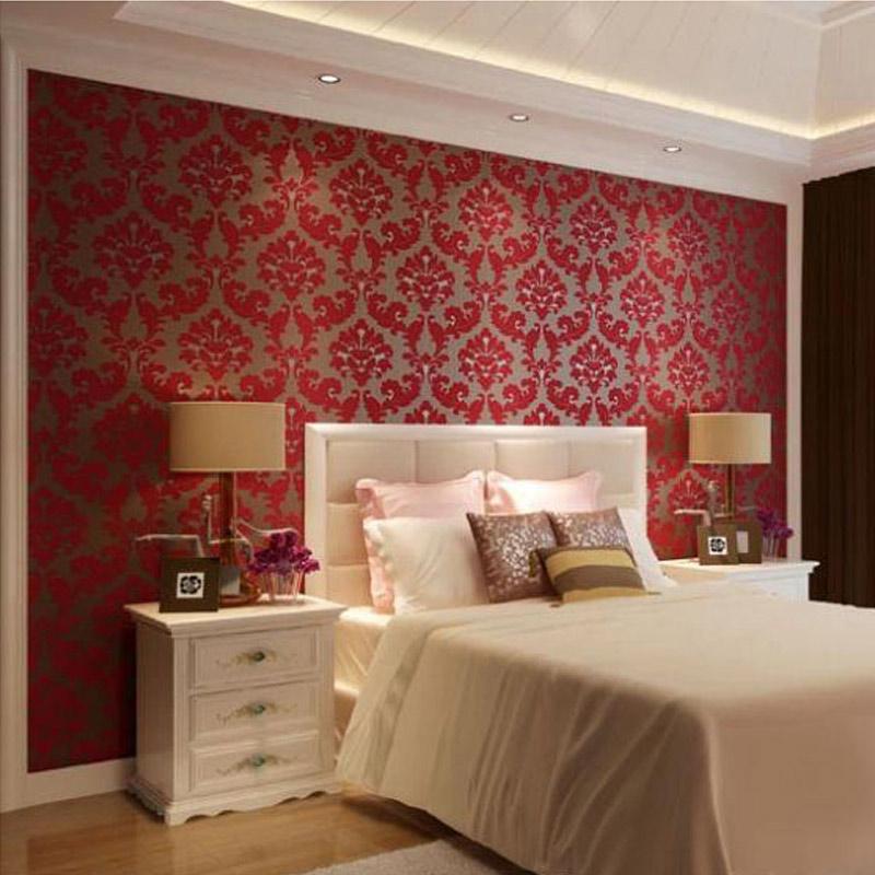 Rojo Wallpaper Rebaño - Compra lotes baratos de Rojo ...