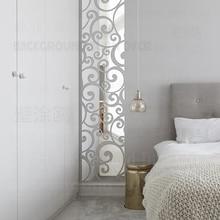 Mirror Wall Stickers Sticker Home Decor Decorative Vinyl Bedroom For Grillwork Swirly Vintage Vine Frieze Listello Border R176 цена