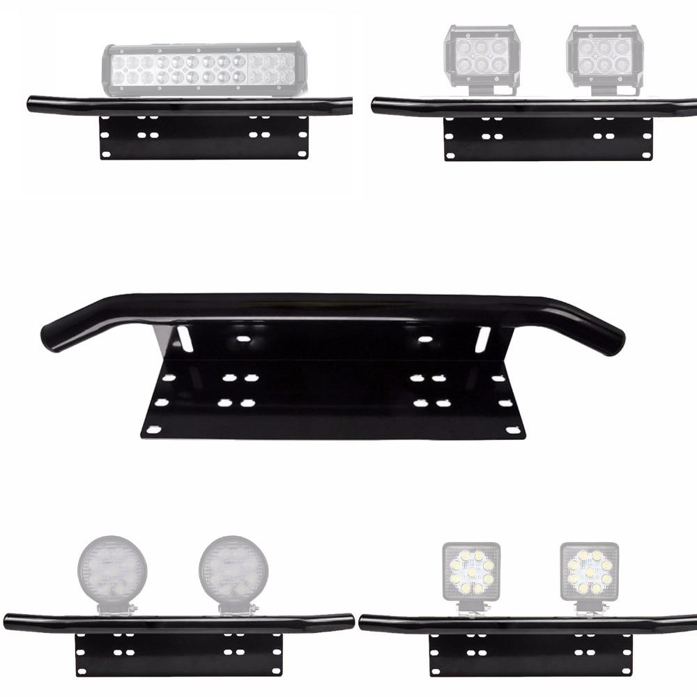 Easy Installation License Number Plate Frame Holder Led Light Bar Mount Front Bumper For Offroad Truck Vehicle Plate Bracket