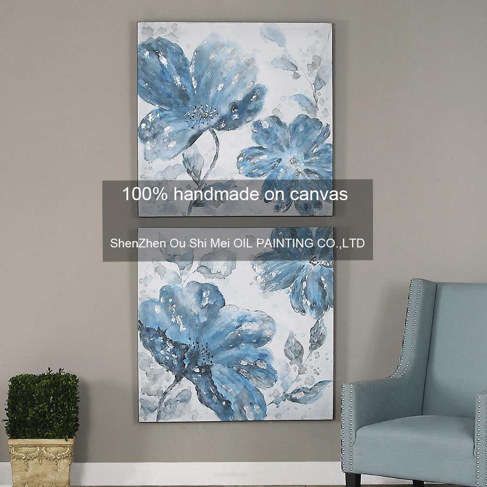 online get cheap oil painting flowers blue -aliexpress