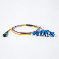 3 Meters hubber suhner MPO/MTP APC UPC male TO SC UPC SM 12 strands SC FTTH Fiber optic patch cord cable pigtail